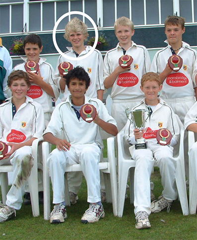Ollie Sale (circled), in the Tavistock team that won the Bob Bridges U13 Cup in 2008