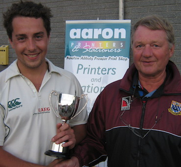 Flashback! Will Gornall with the Aaron Printers Man of the Match trophy after the 2014 final