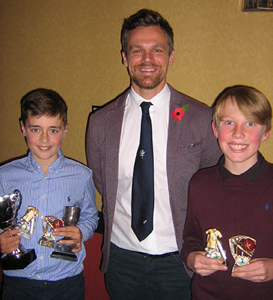 Harry Passenger, Jamie Hildreth and Noah Rider with their awards