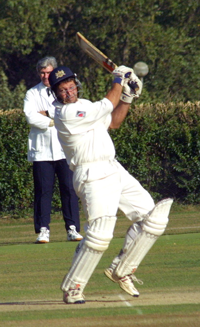 Bob Dawson on his way to a half-century for Devon against Shropshire in 2001