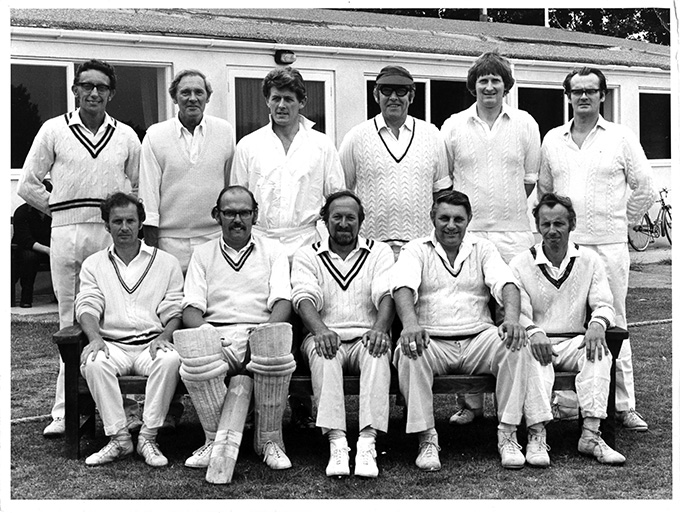 The Exeter St James team in 1968. John Evans is on the far right of the back row