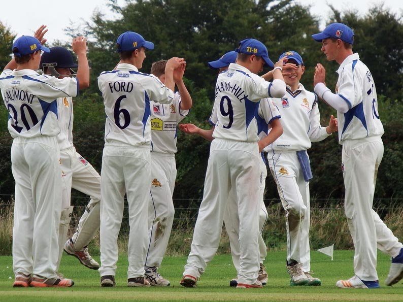 A Dorset wicket falls and Devon celebrate