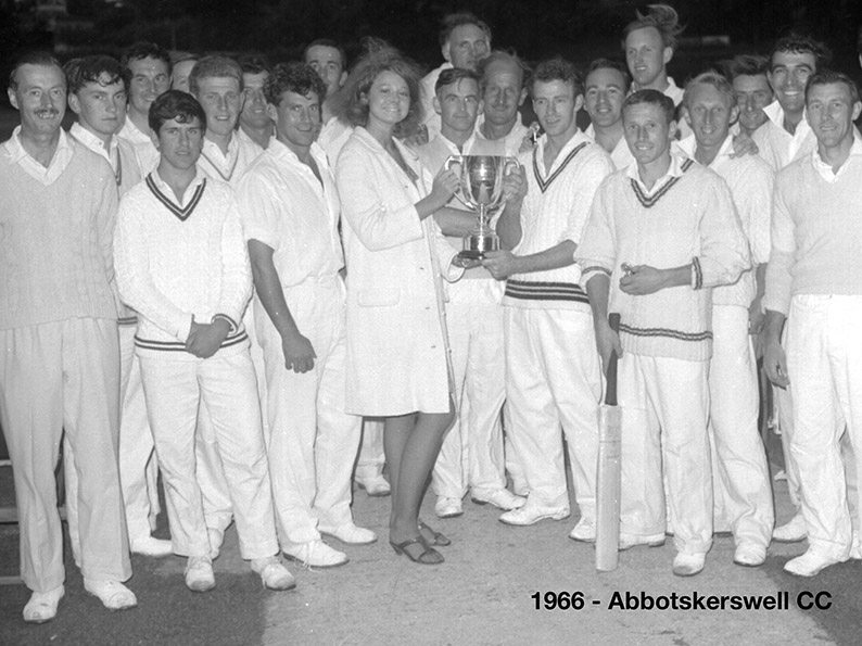Flashback to 1966 when Abbotskerswell skipper Robin Pugh collected the old Narracott Cup after his side beat Barton in the final