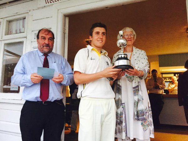 Winning captain Charlie Mitchell after last season's Brockman Cup final