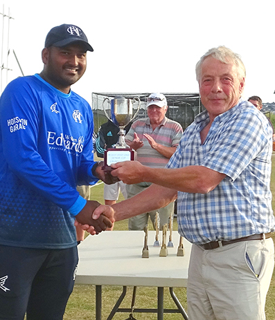 Jackson Thompson takes delivery of the Servicemaster Clean Devon T20 Cup