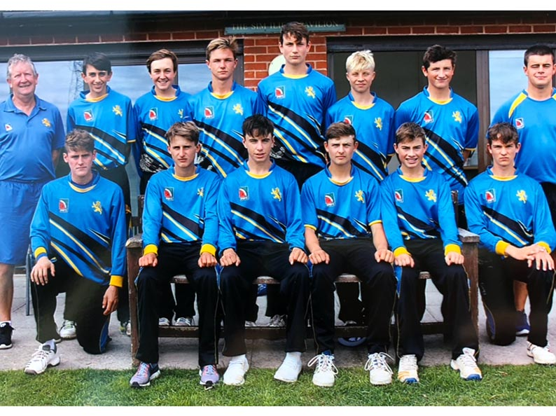 Devon U15s, who did their county proud at the finals of the ECB Cup. Back (left to right): Nigel Ashplant, Josh Farley, Eddie Smout-Cooper, Sonny Baker, Tom Reynolds, Charlie Ward, Ben Privett, Alex Clements, front: Elliott Hamilton, Jack Ford, Joe Du'Gay, Ben Beaumont, Adam Small, Taylor Ingham-Hill