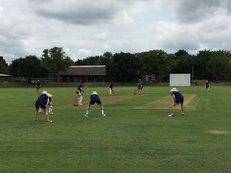 Practice at Skukuza ahead of the tour opener against the Johan Rudolph XI